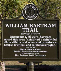 Bartram trail sign